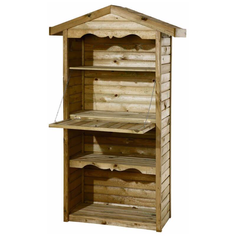 GarPro Tuinkast zachthout Celfix | Klep 200 x 90 x 44 cm online kopen