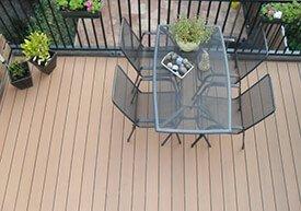 Composiet balkon zandbruin