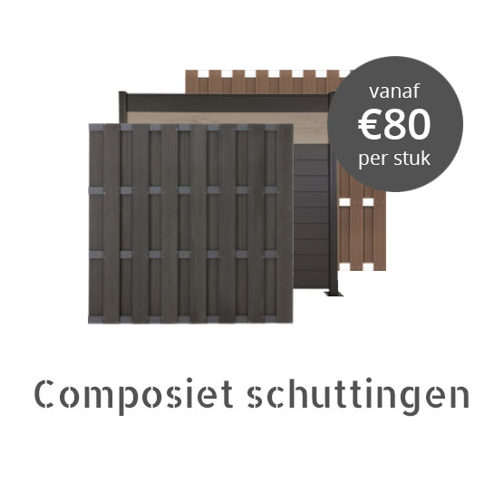 Composiet schutting