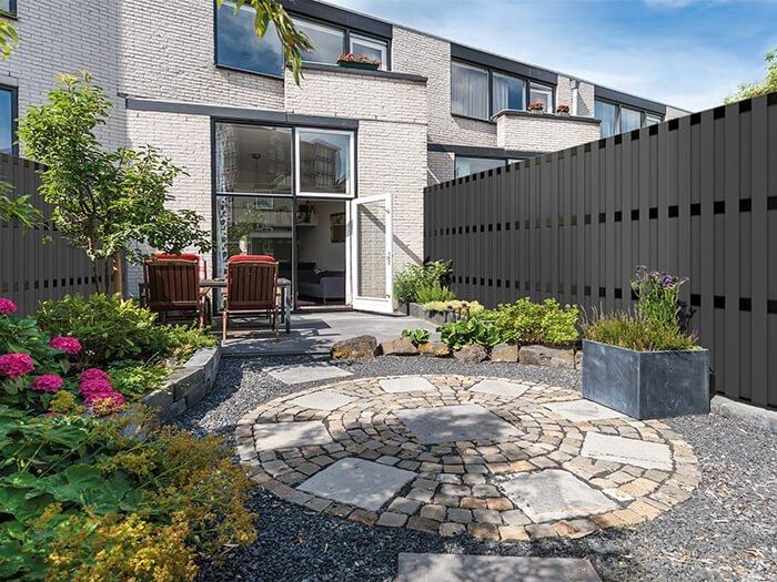 Inspiratie composiet schuttingen homingxl - Modern tuinbekken ...