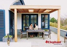 Elephant - Douglas hout aanbouwveranda