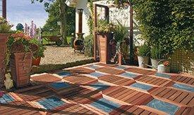 Elephant houten terrastegel met inlay